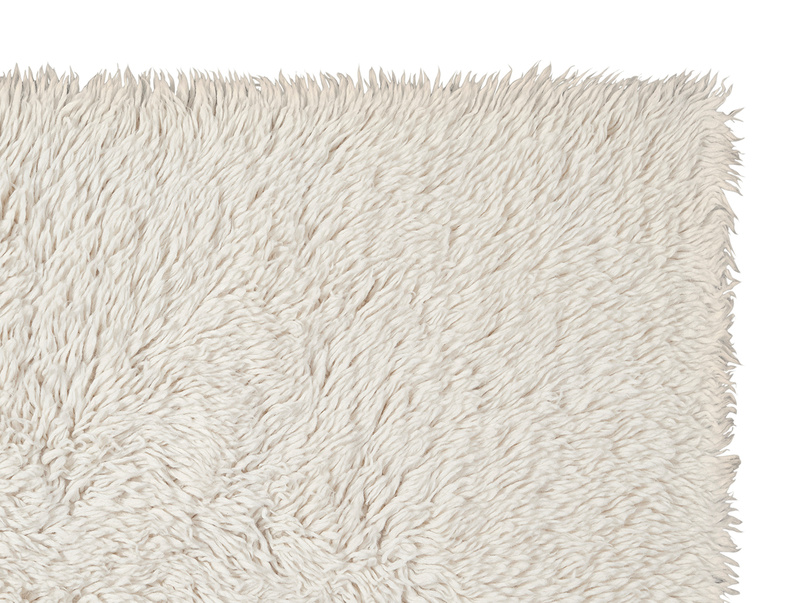 Wilder fluffy living room rug in Natural