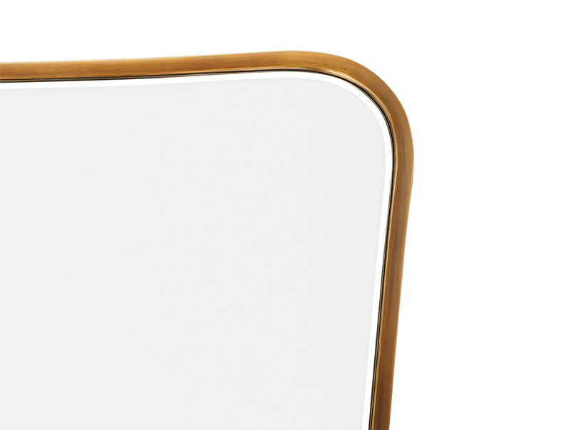 Middle Brass mirror frame detail