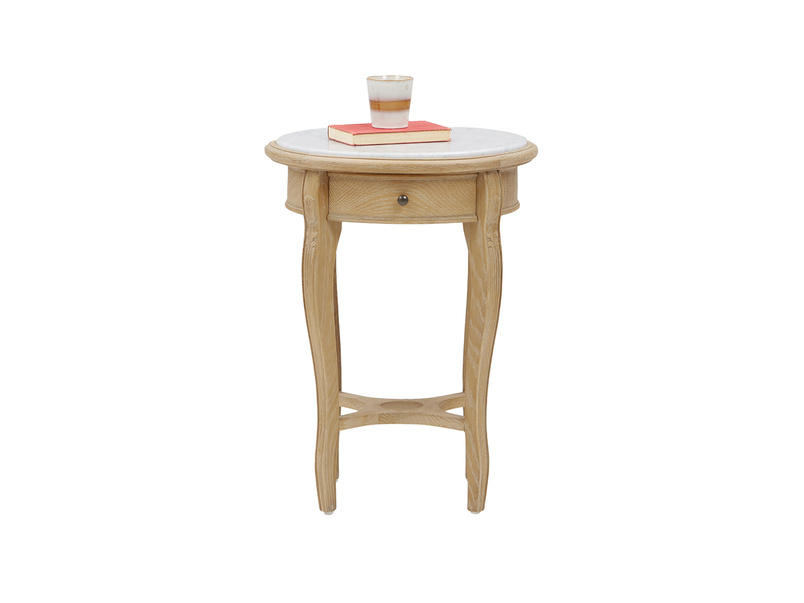 Bella French side table in Marble