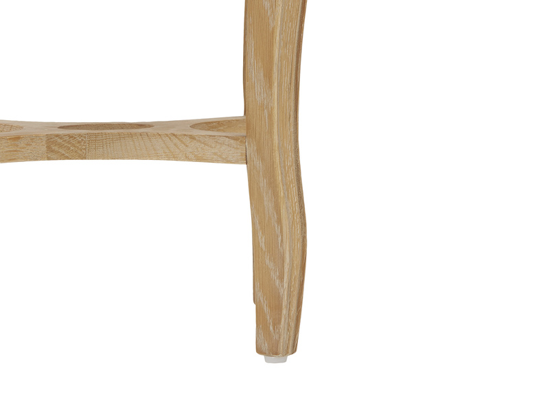 Bella oak side table in Marble leg detail