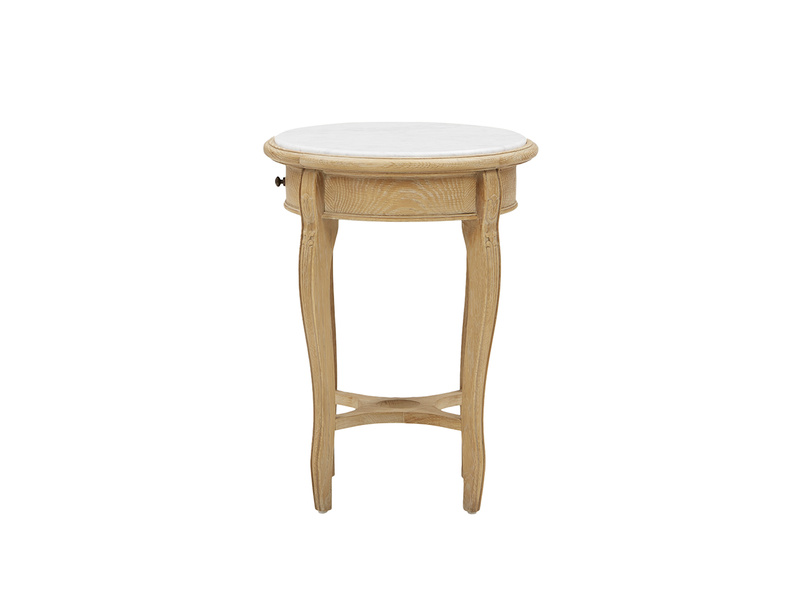 Bella side table in Marble side detail