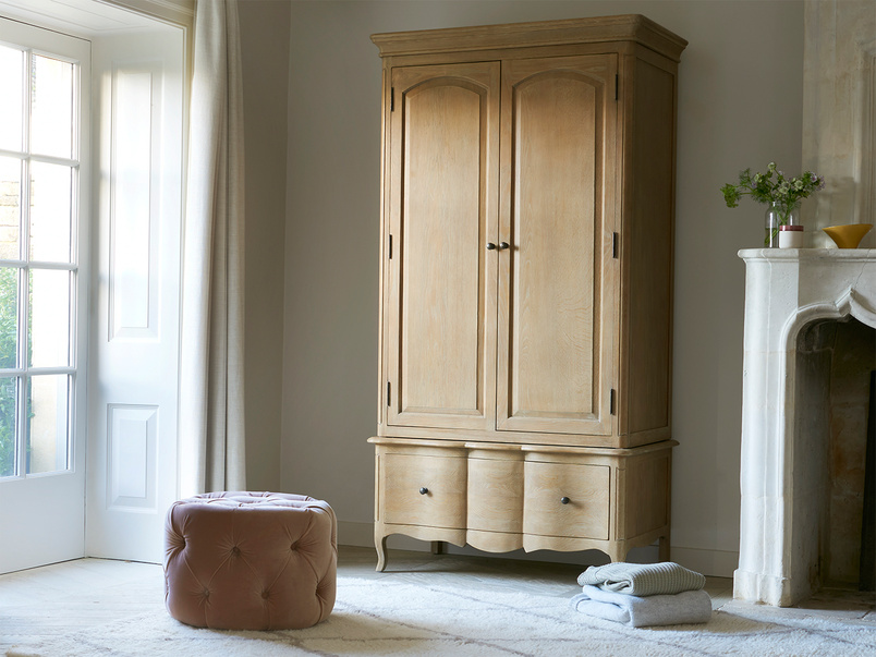 Pascaline French style oak wardrobe