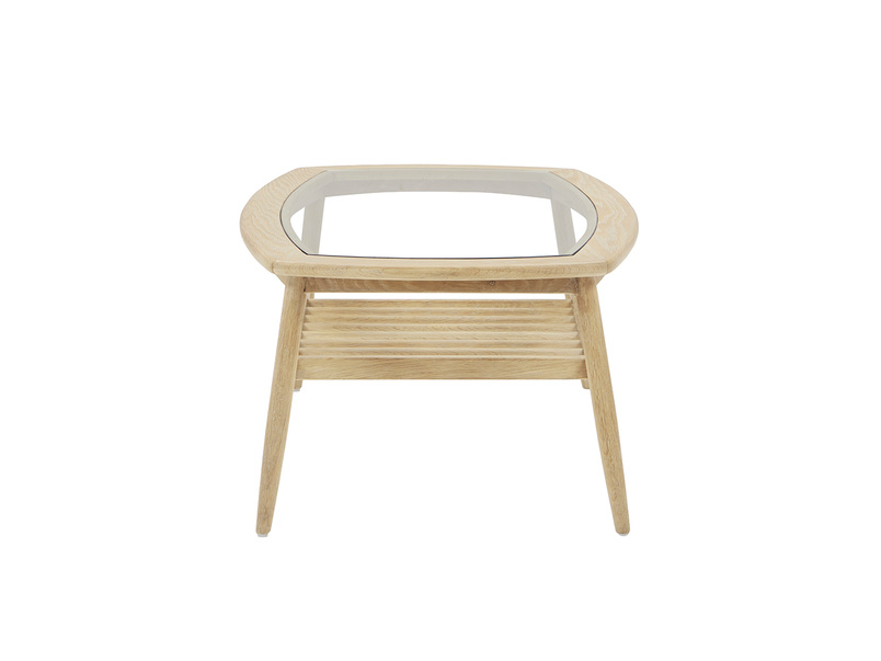 Wood Turner coffee table with storage shelf
