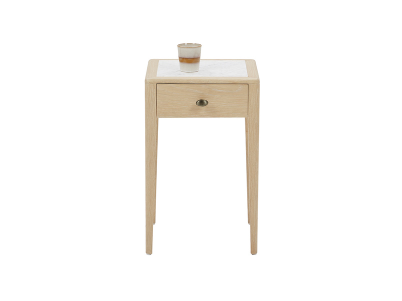 Plink side table with marble top