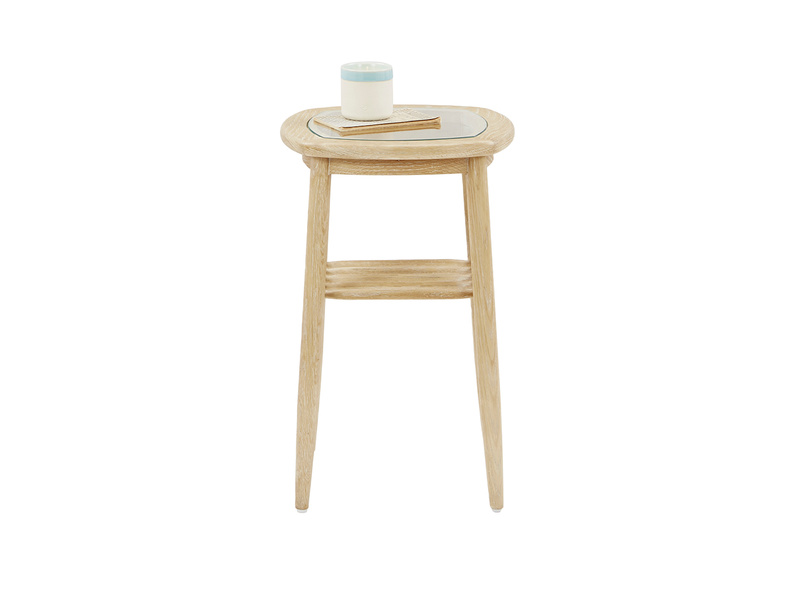 Little Wood Turner glass and wood side table