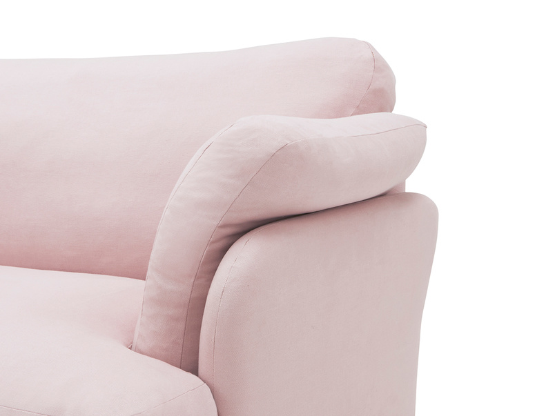 Smithy squishy love seat arm detail