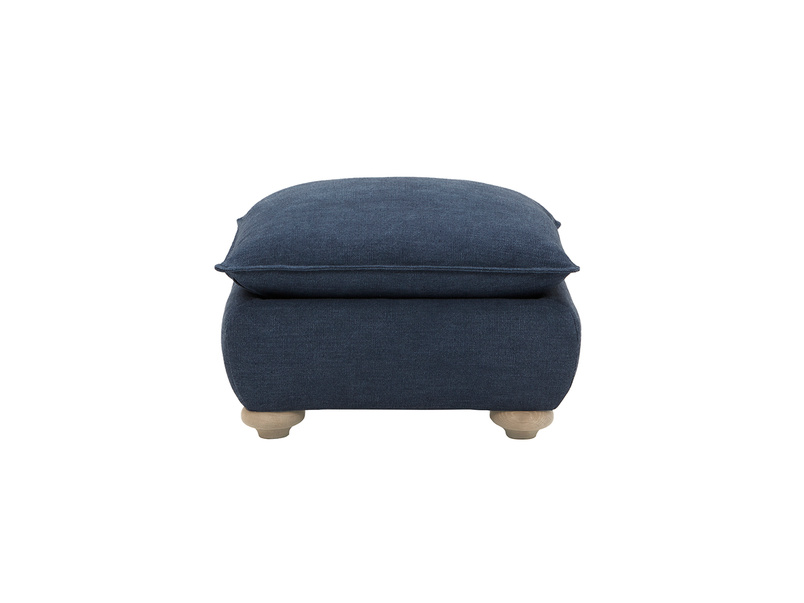Munch upholstered square footstool