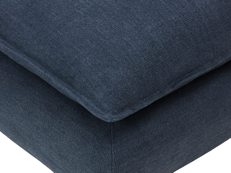 Munch upholstered square squishy footstool