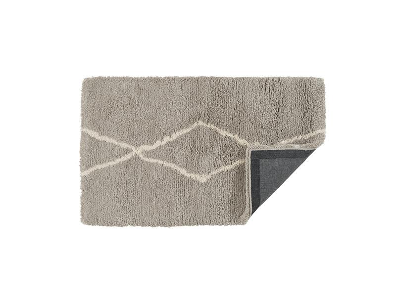Casbah handmade bedside rug in Ash Grey