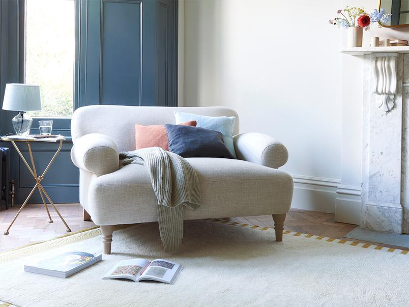 Easy peasy upholstered love seat