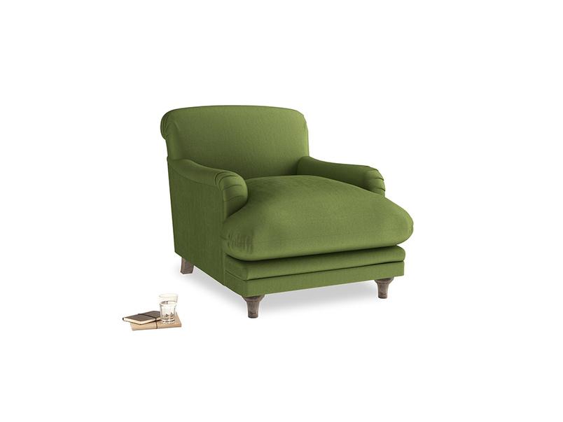 Pudding Armchair in Olive Vintage Velvet