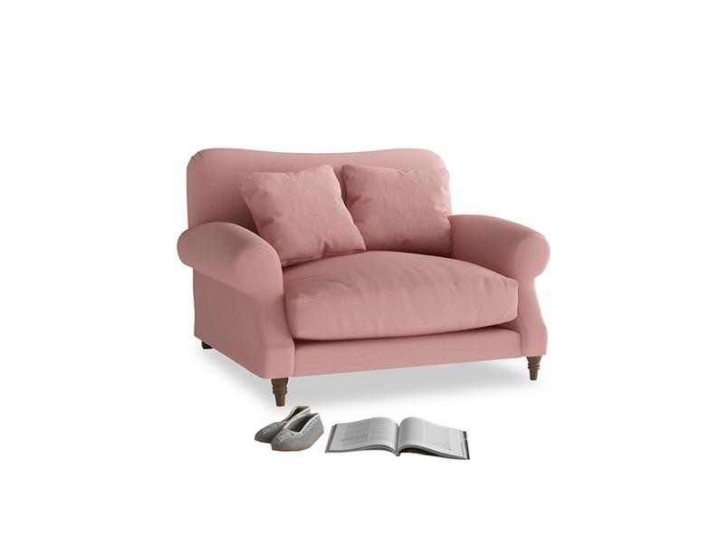 Crumpet Love seat in Dusty Pink Vintage Linen
