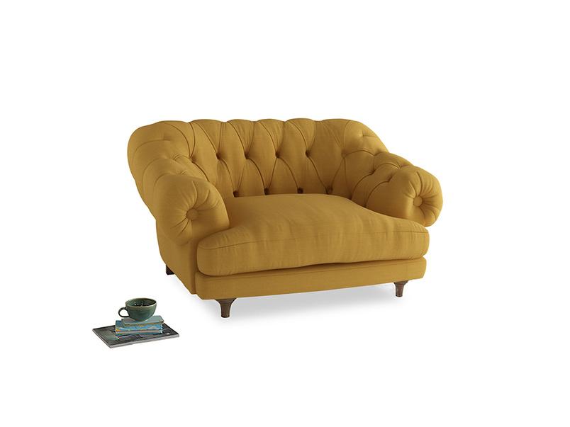 Bagsie Love Seat in Burnt Ochre Vintage Linen