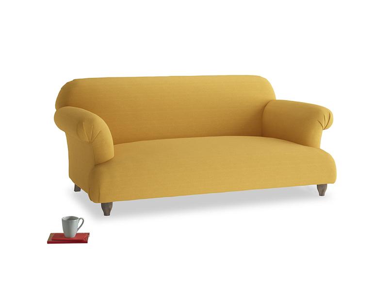 Medium Soufflé Sofa in Burnt Ochre Vintage Linen
