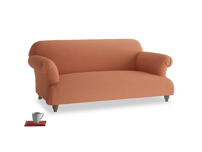 Medium Soufflé Sofa in Burnt Umber Vintage Linen