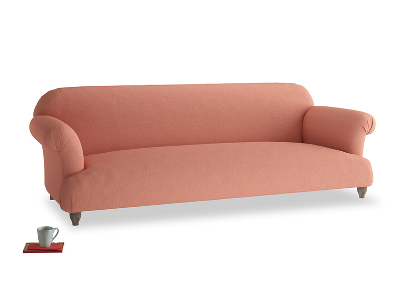 Extra large Soufflé Sofa in Tawny Pink Brushed Cotton