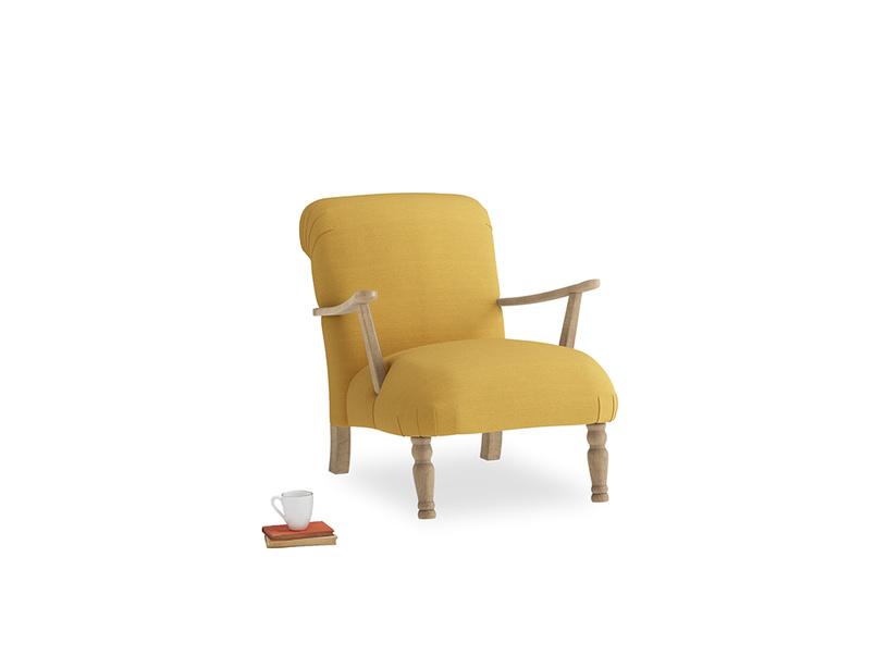 Brew Armchair in Burnt Ochre Vintage Linen