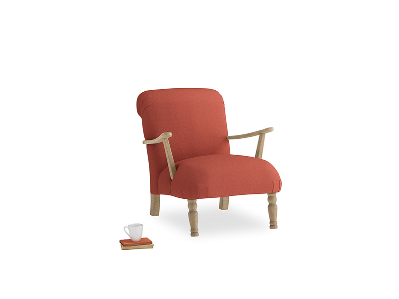 Brew Armchair in Burnt Sienna Brushed Cotton
