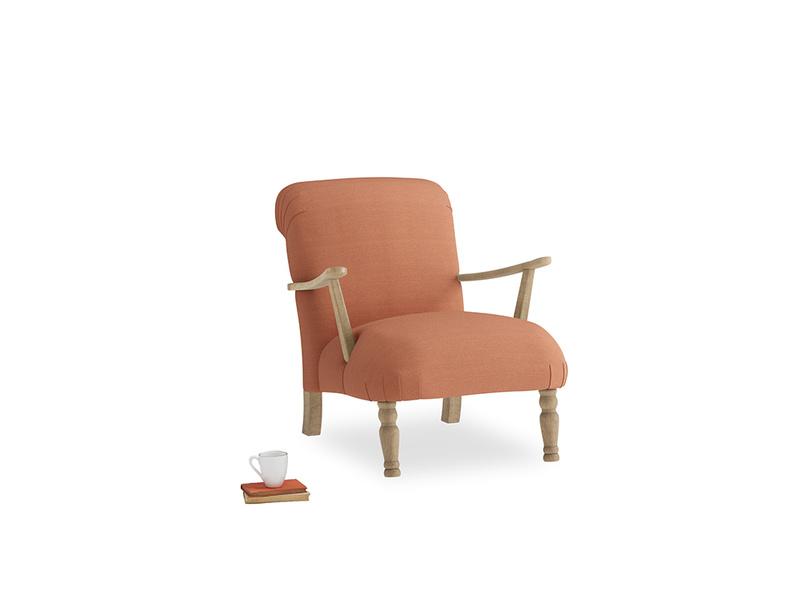 Brew Armchair in Burnt Umber Vintage Linen