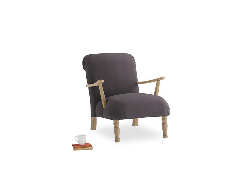 Brew Armchair in Faded Noir Vintage Linen