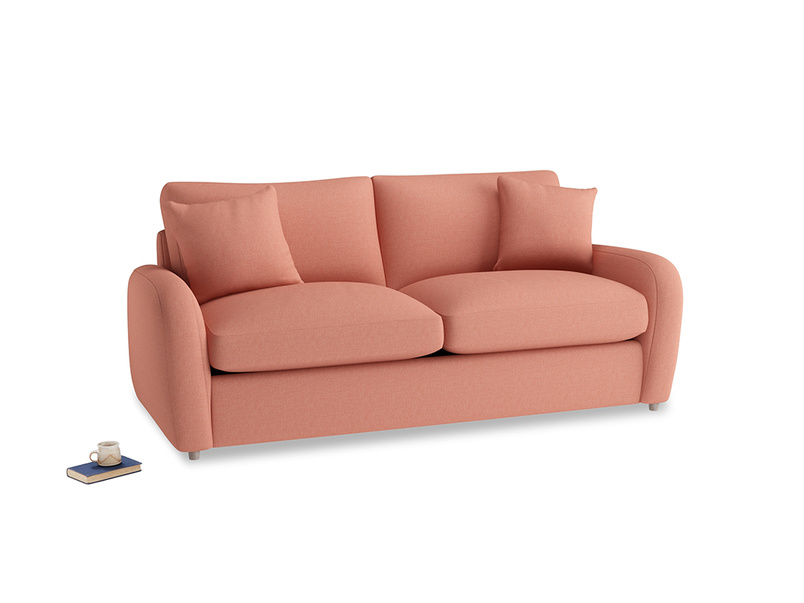 Medium Easy Squeeze Sofa Bed in Tawny Pink Brushed Cotton