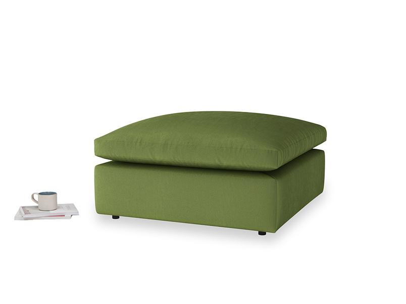 Cuddlemuffin Footstool in Olive Vintage Velvet