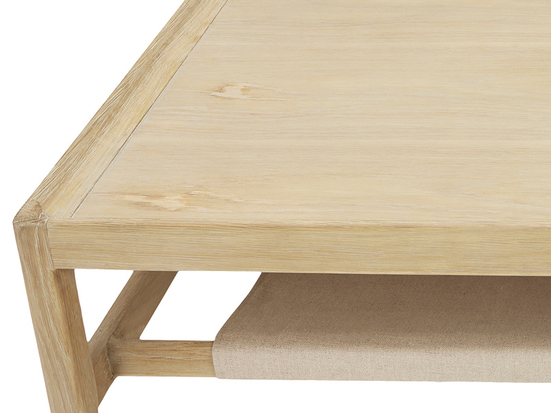 Slingshot coffee table close top detail