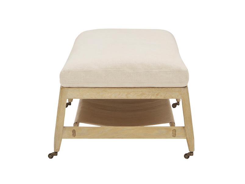 Slingshot coffee table footstool end detail