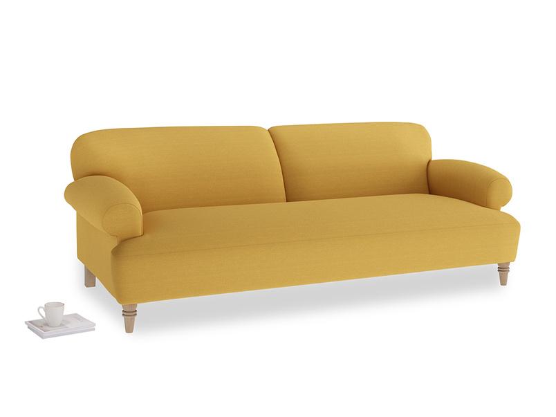 Large Easy-Peasy Sofa in Burnt Ochre Vintage Linen