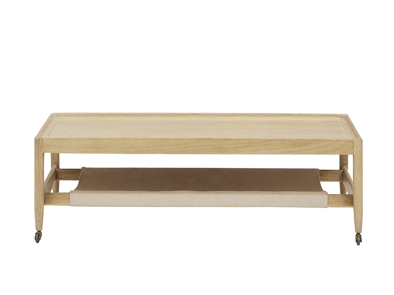 Slingshot modern coffee table with wheels