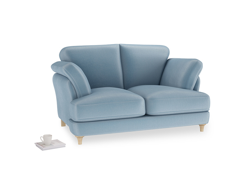 Small Smithy Sofa in Chalky blue vintage velvet