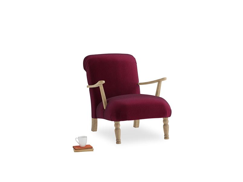 Brew Armchair in Merlot Clever Deep Velvet