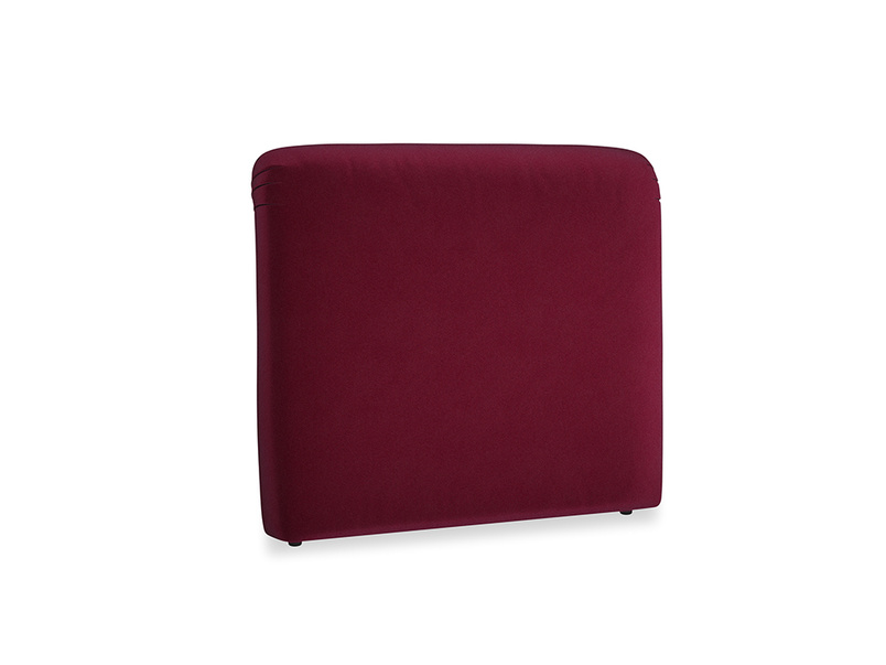 Double Cookie Headboard in Merlot Clever Deep Velvet