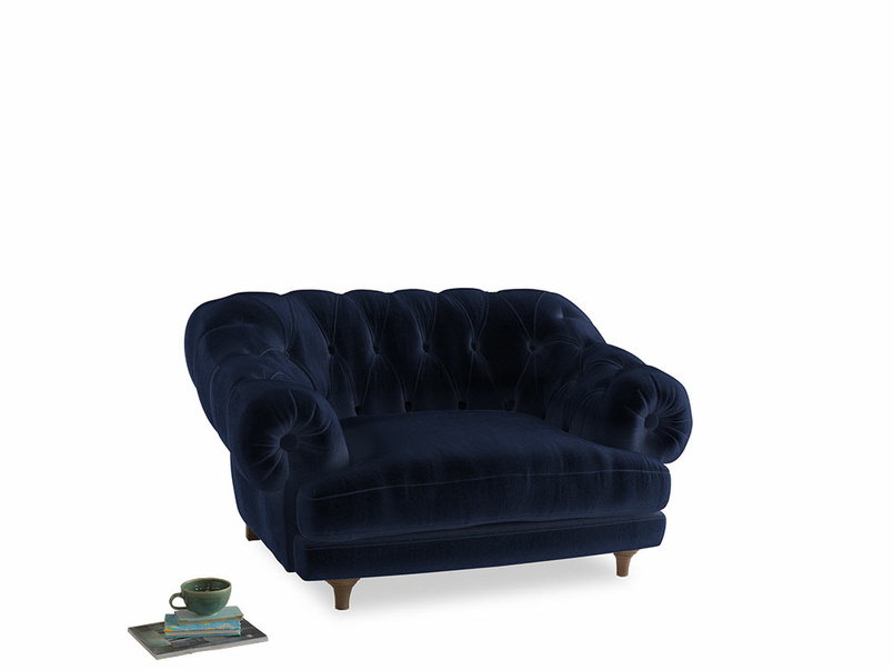 Bagsie Love Seat in Midnight Clever Deep Velvet