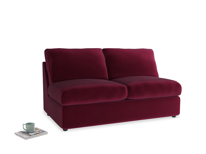 Chatnap Storage Sofa in Merlot Clever Deep Velvet