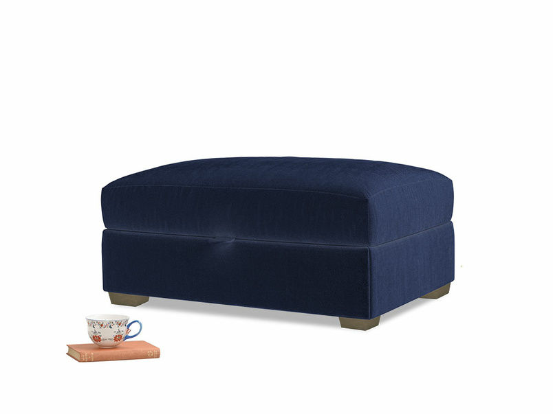 Bumper Storage Footstool in Midnight Clever Deep Velvet