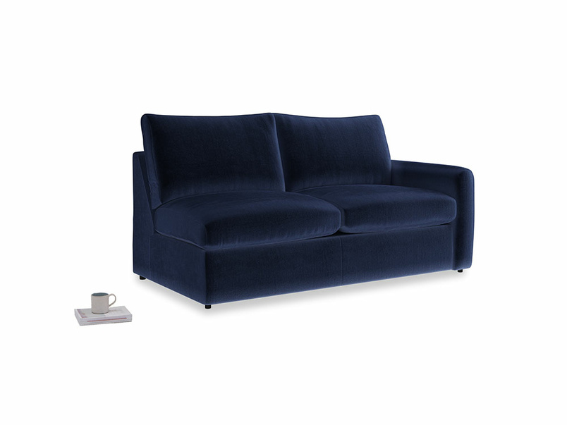 Chatnap Storage Sofa in Midnight Clever Deep Velvet with a right arm