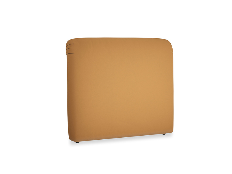 Double Cookie Headboard in Caramel Clever Deep Velvet