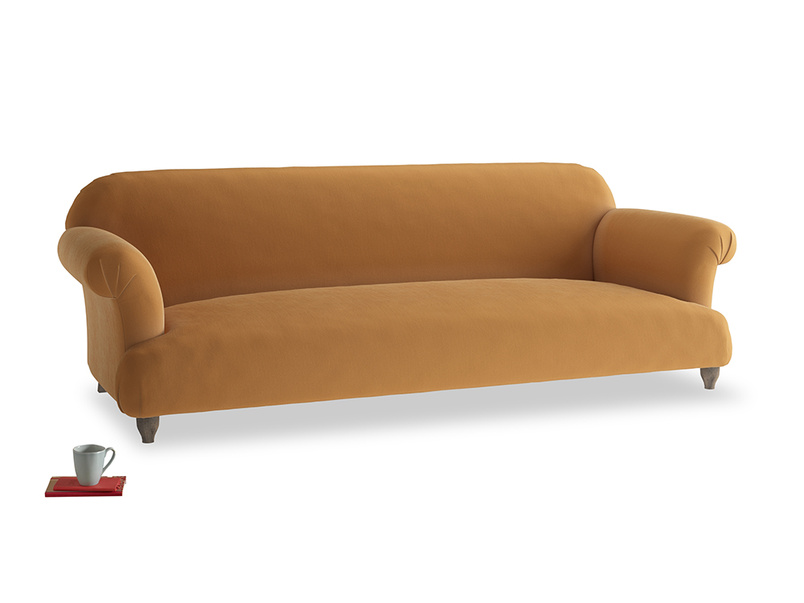 Extra large Soufflé Sofa in Caramel Clever Deep Velvet