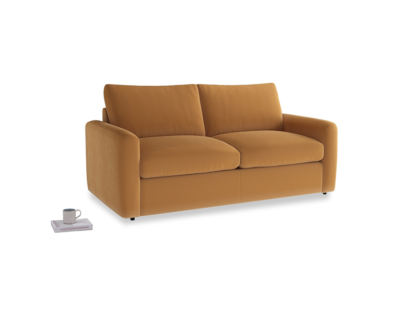 Chatnap Storage Sofa in Caramel Clever Deep Velvet with both arms