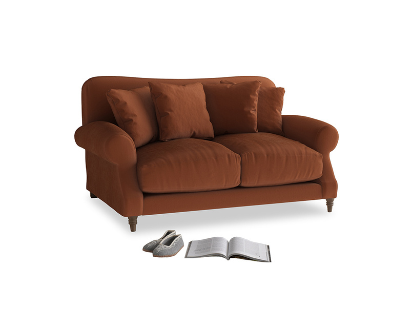 Small Crumpet Sofa in Praline Clever Deep Velvet