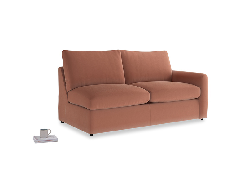 Chatnap Storage Sofa in Pinky Peanut Clever Deep Velvet with a right arm