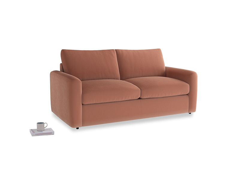 Chatnap Storage Sofa in Pinky Peanut Clever Deep Velvet with both arms