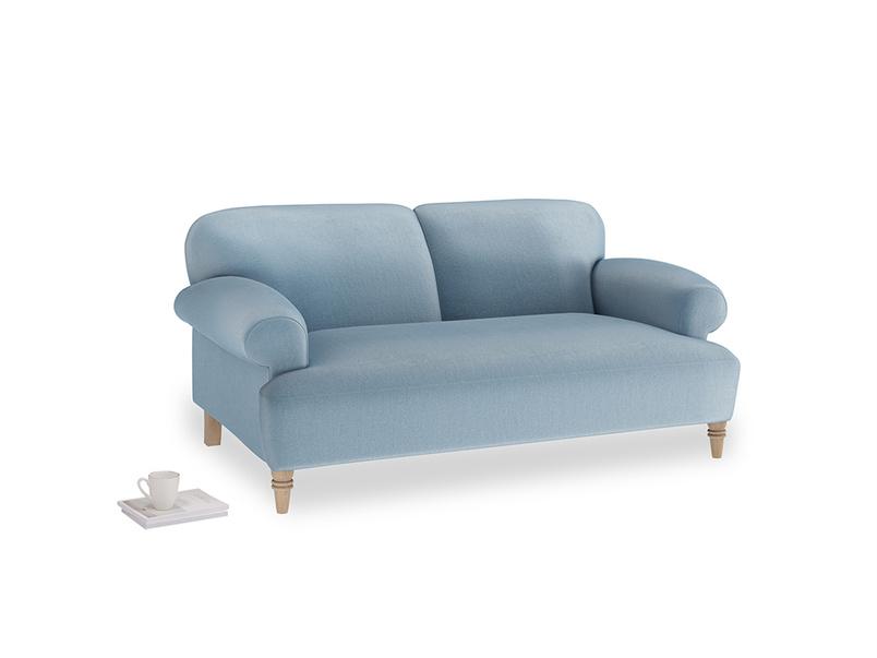 Small Easy-Peasy Sofa in Chalky blue vintage velvet