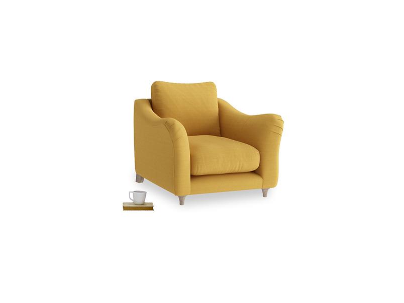 Bumpster Armchair in Burnt Ochre Vintage Linen