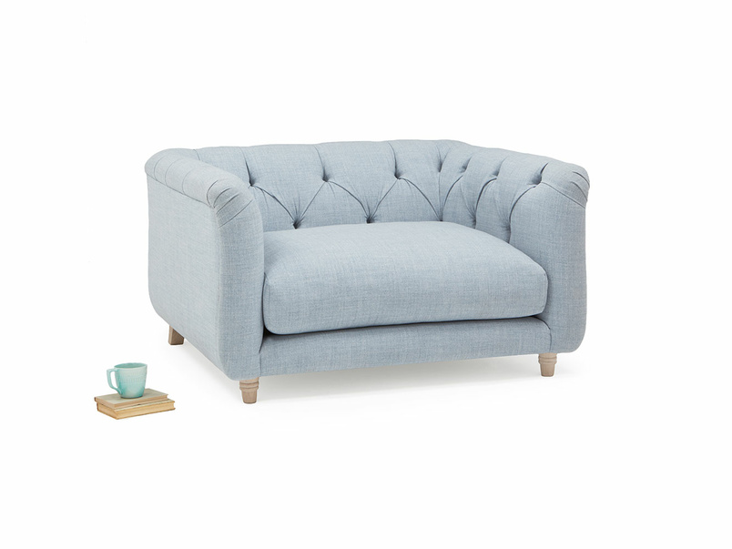 301660 boho button back love seat with high arms