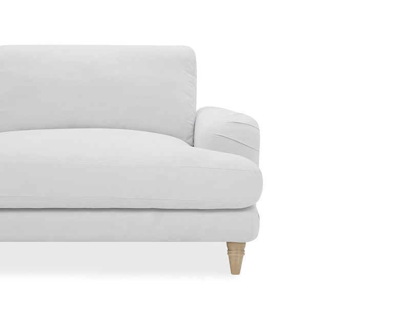 392966 cinema upholstered love seat low arm detail