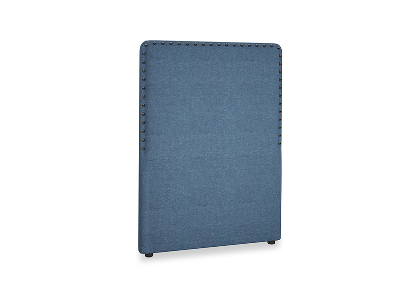 Single Smith Headboard in Inky Blue Vintange Linen