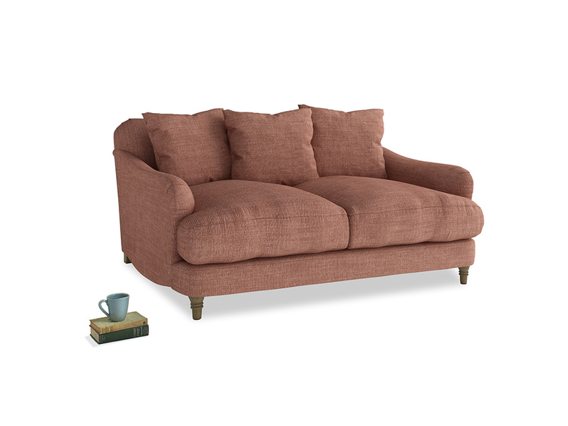 Small Achilles Sofa in Dried Rose Clever Laundered Linen