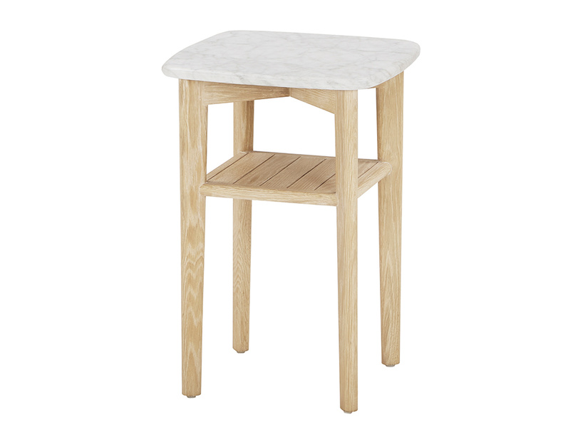 Marbler top side table